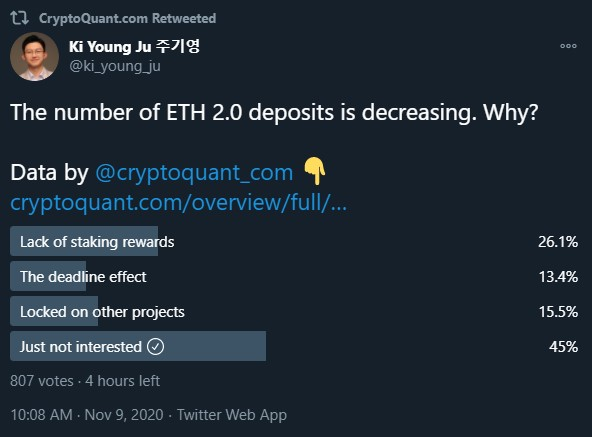 Binance CEO Hints at Buying 32 Ethereum to Support ETH 2.0 Ethereum (ETH) News